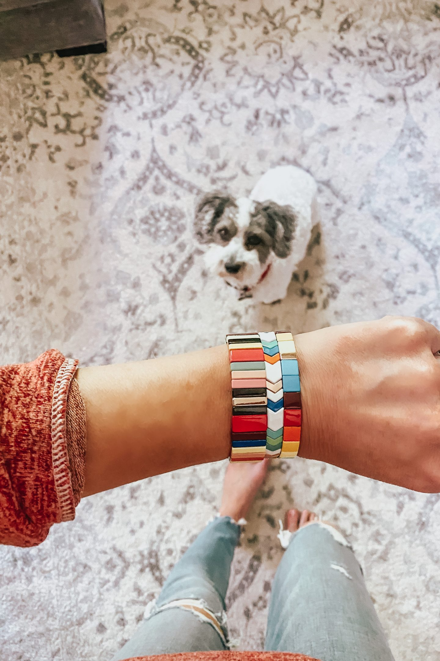 Amazon-Rainbow tile bracelets