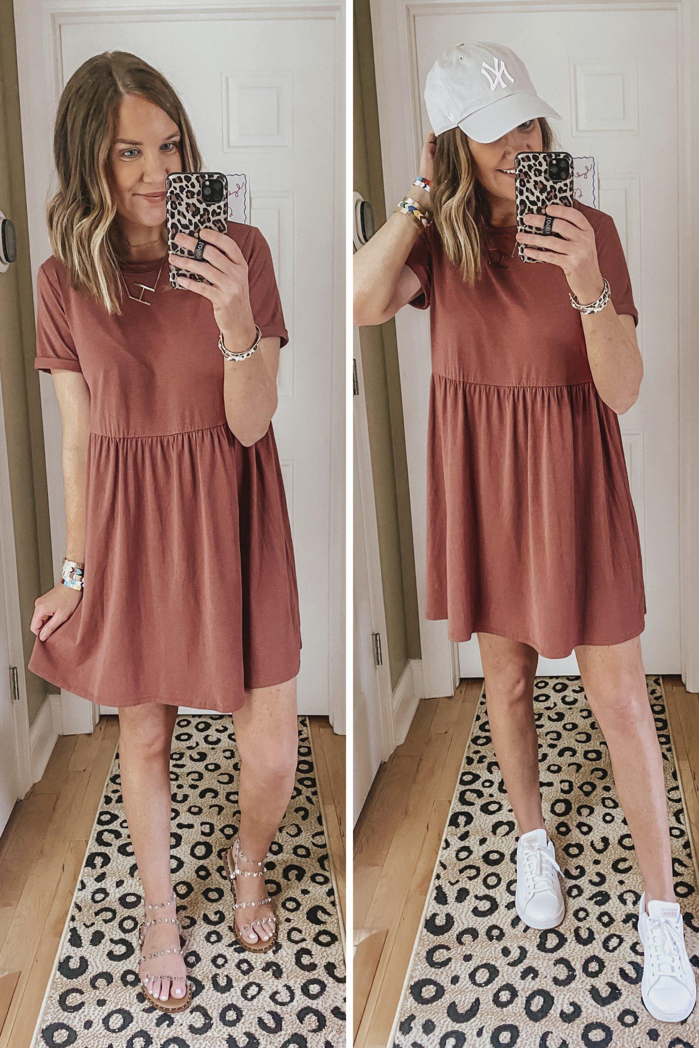 Target Summer Outfits for Women, babydoll tee shirt dress