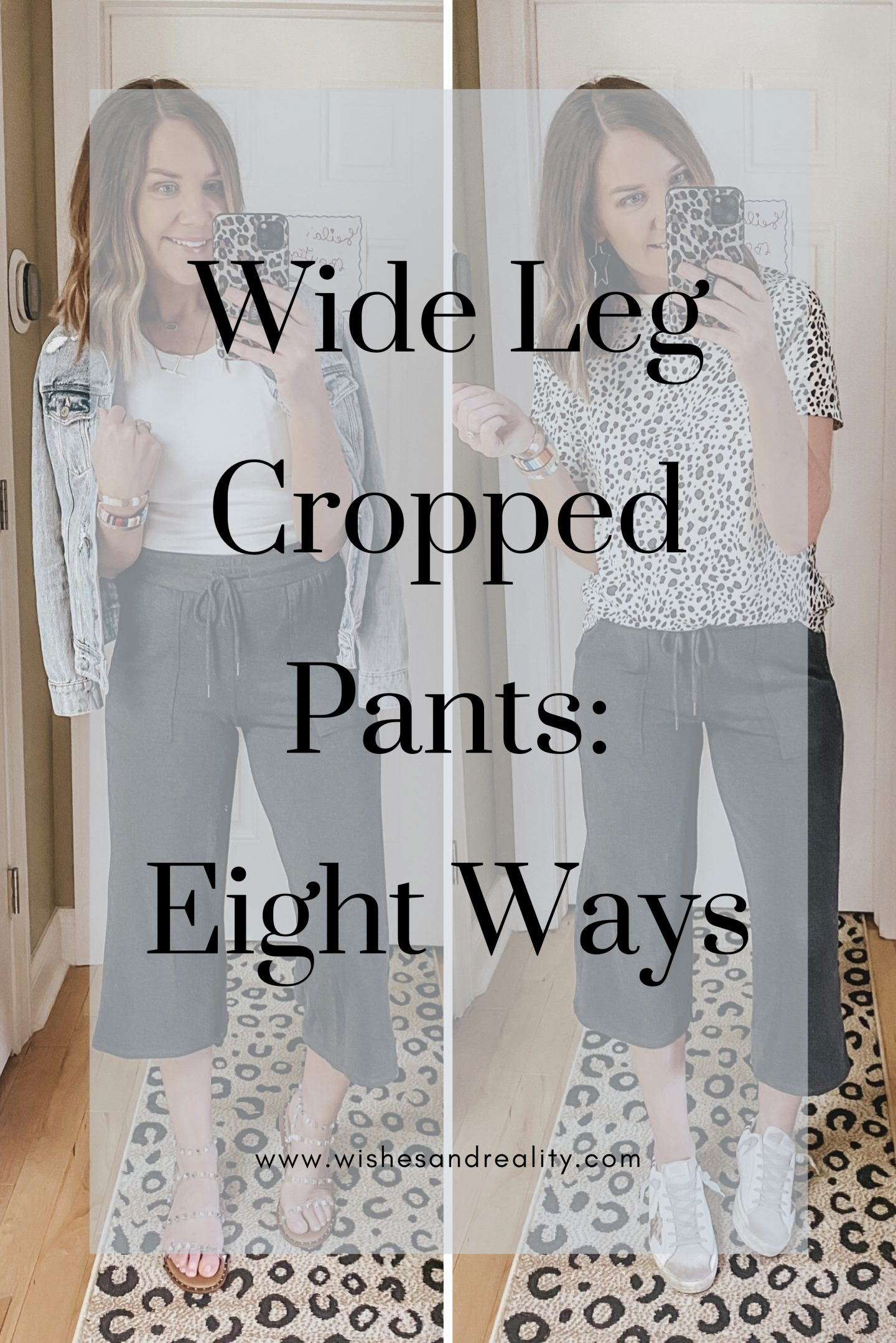 wide leg cropped lounge pants, how to style