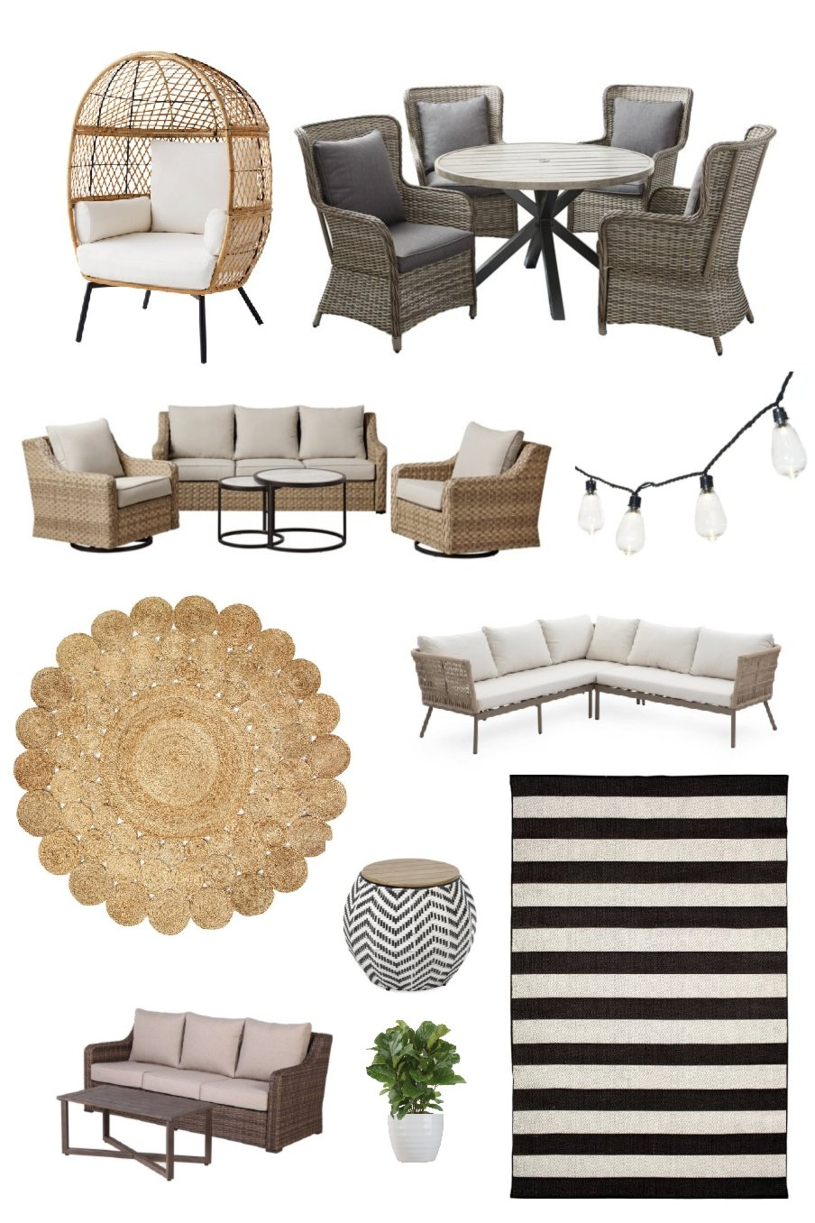 Patio on a Budget Ideas, Decorate for Under $1000, affordable patio decor from Walmart