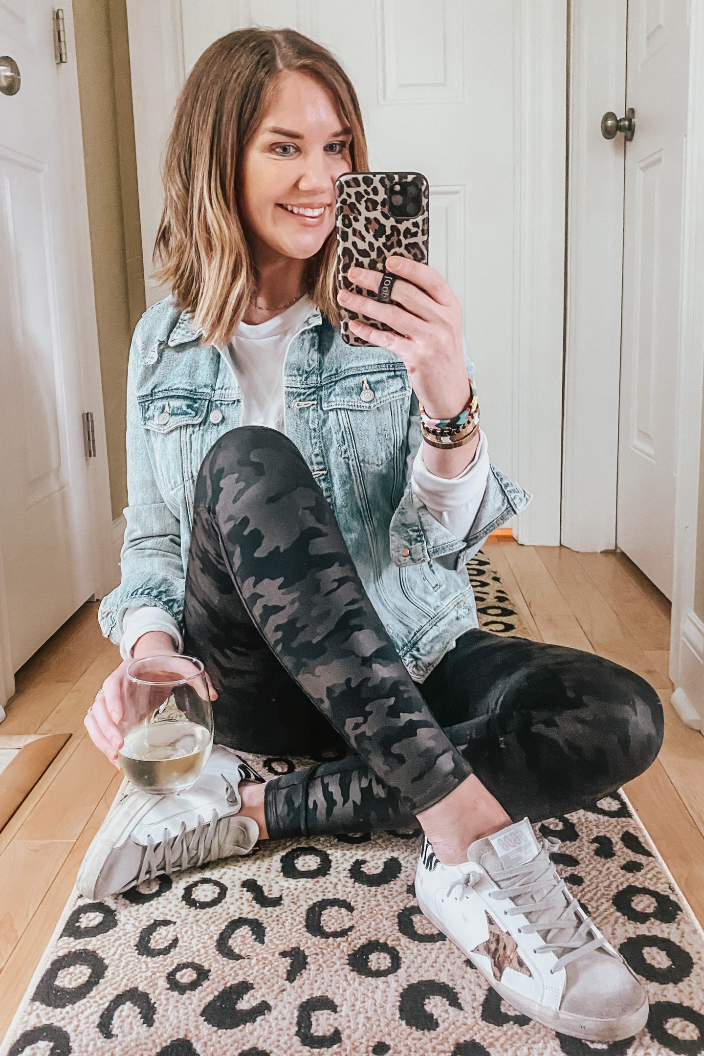 camo faux leather leggings, LV Neverfull MM dupe