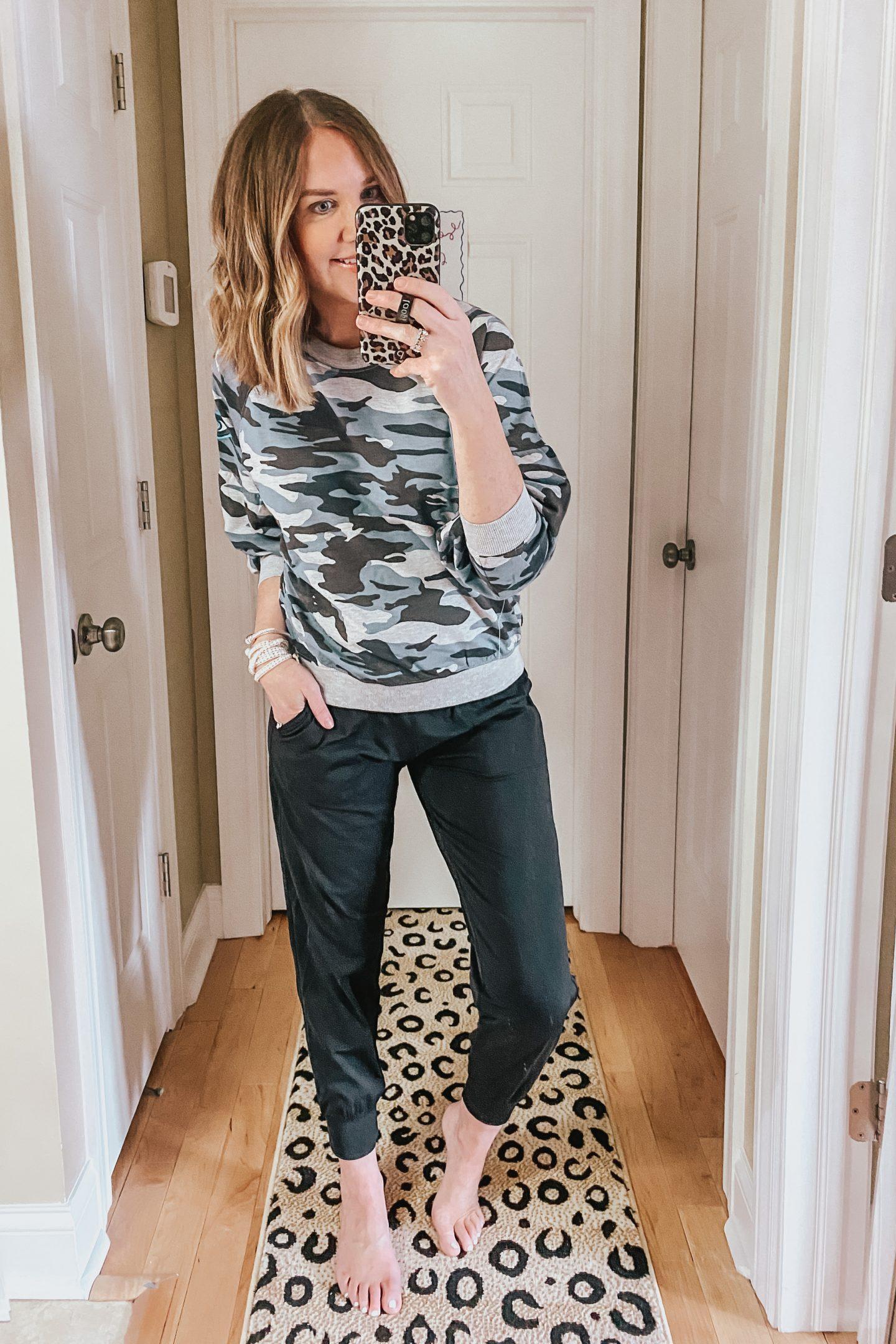Sofia Vergara camo sweatshirt