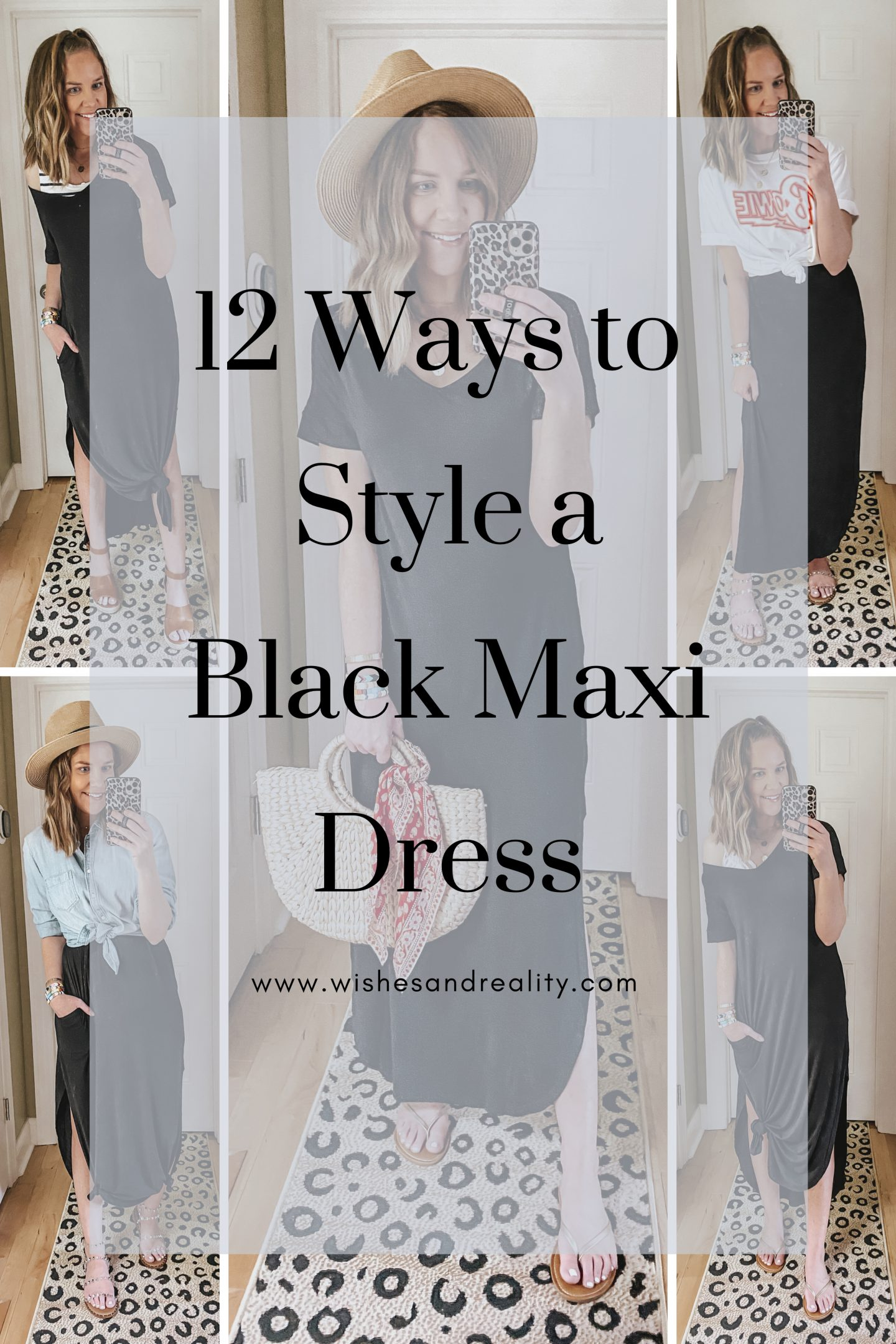 how to style casual black maxi dress
