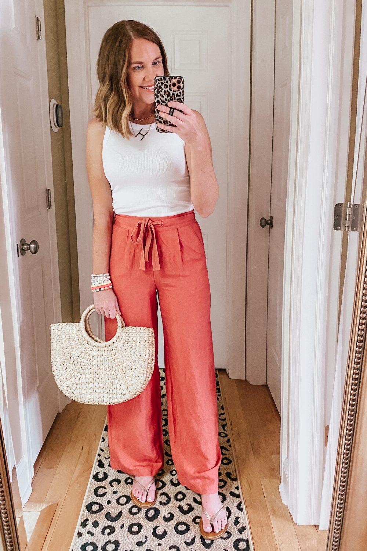 Target linen wide leg pants