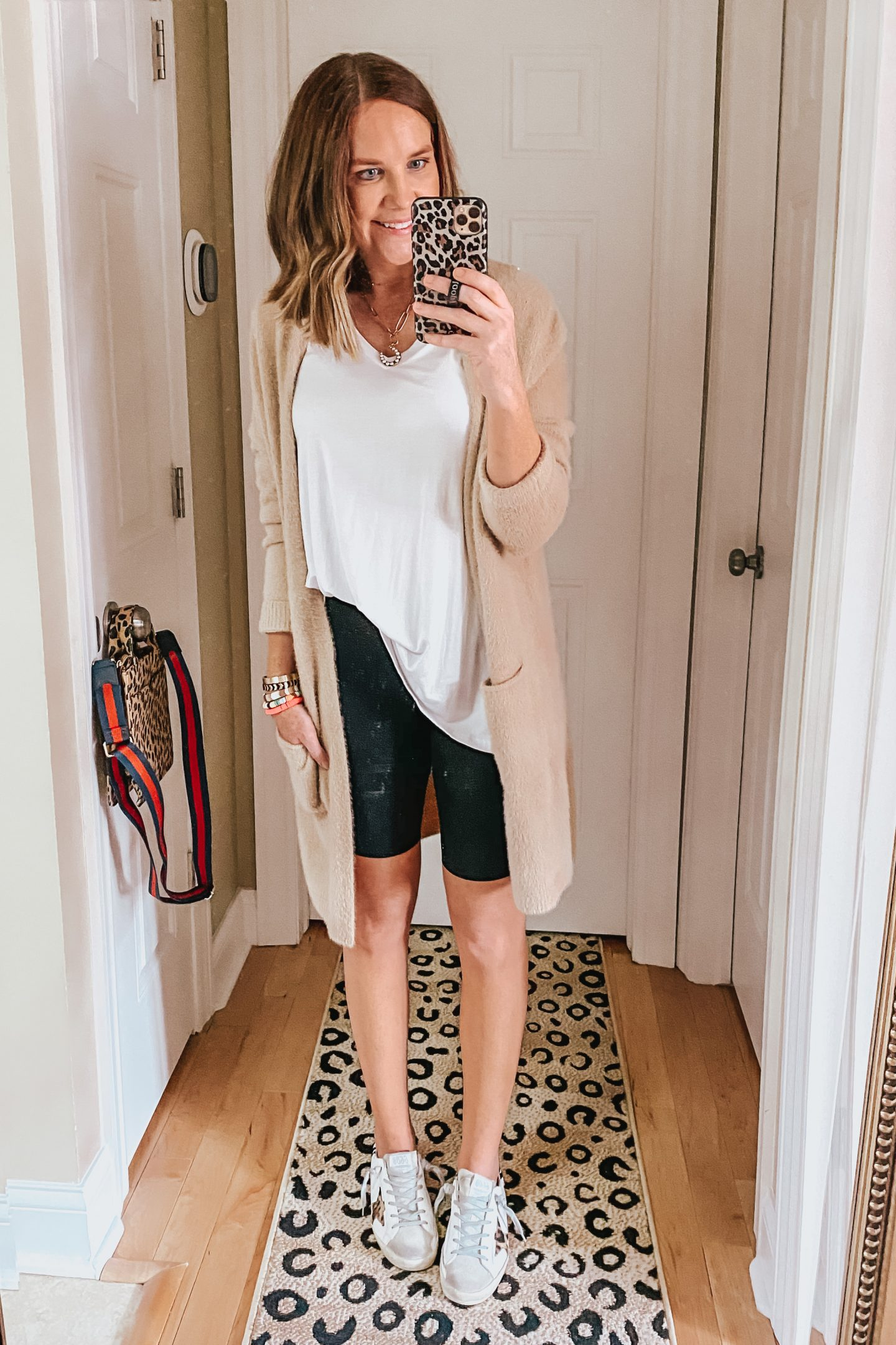 work from home outfits, travel outfit, bike shorts