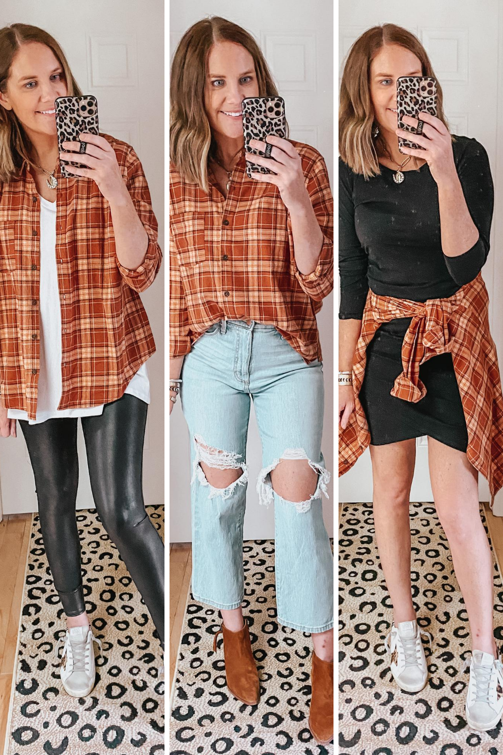 cute-casual-fall-outfits-from-Target-3-ways-to-style-a-plaid-flannel