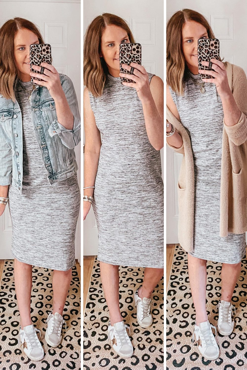 cute-casual-fall-outfits-from-Target-styling-a-sleeveless-dress-for-fall