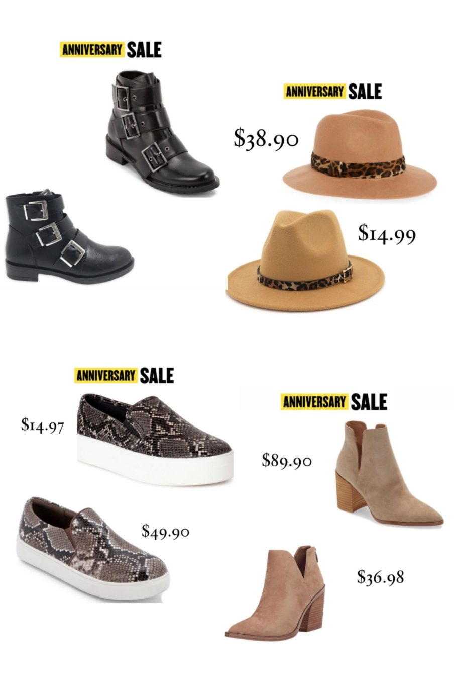 fall shoes and hats