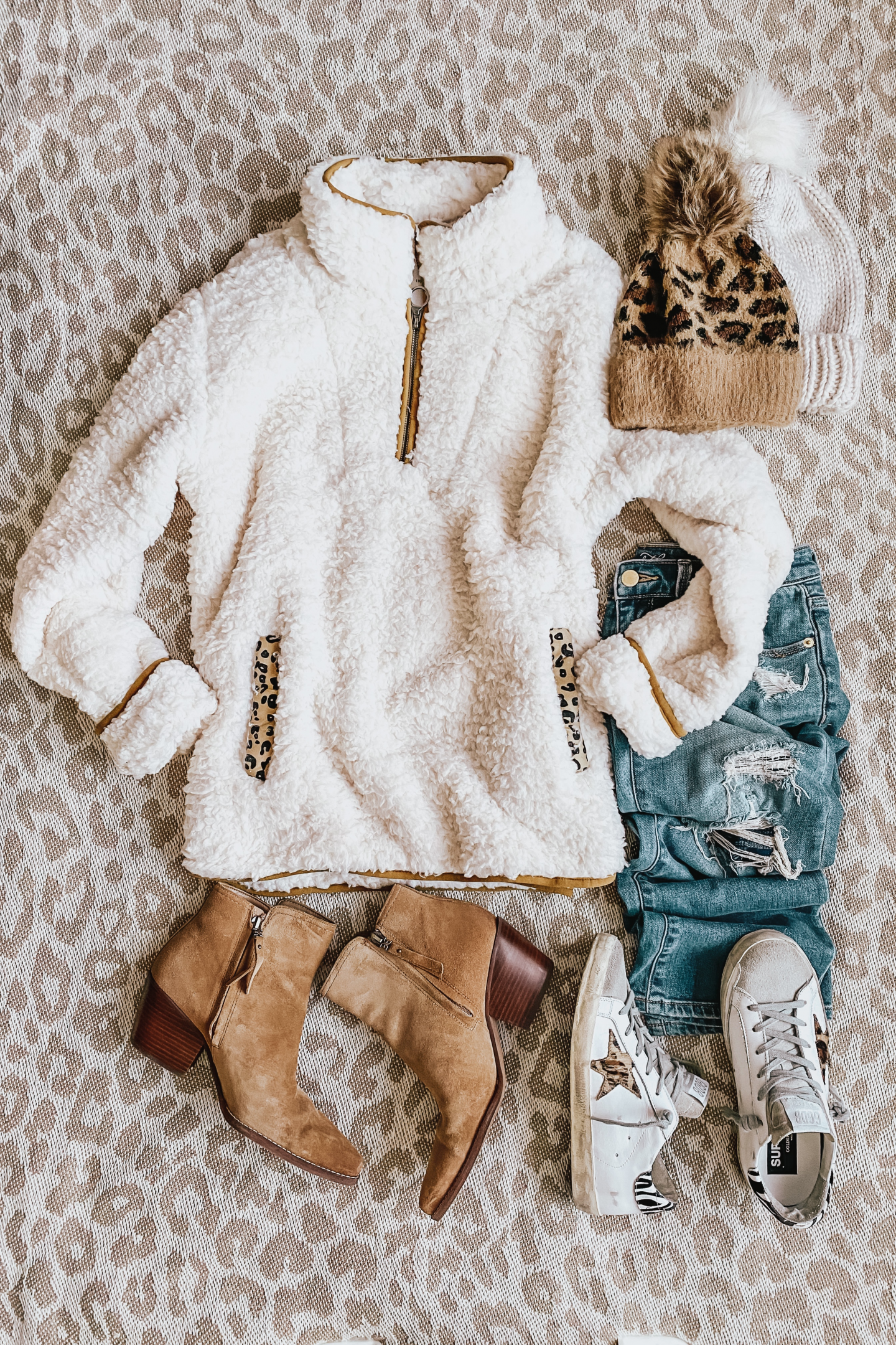 wubby fleece pullover, sherpa, booties, Fall Outfits