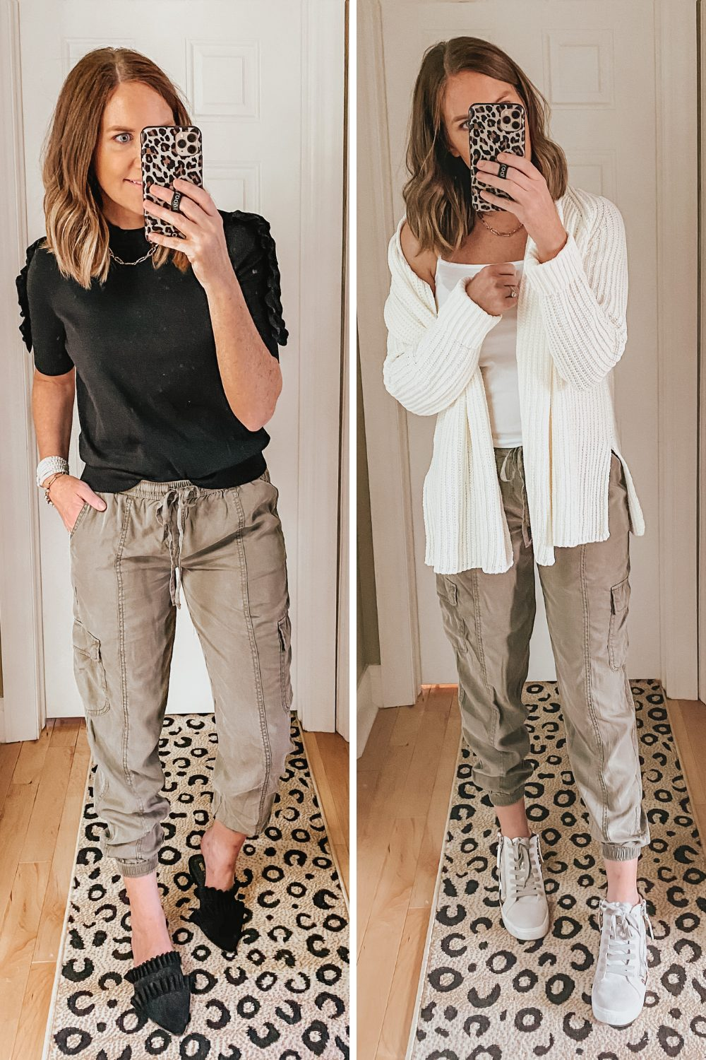 fall capsule wardrobe from Target, how to style cargo joggers