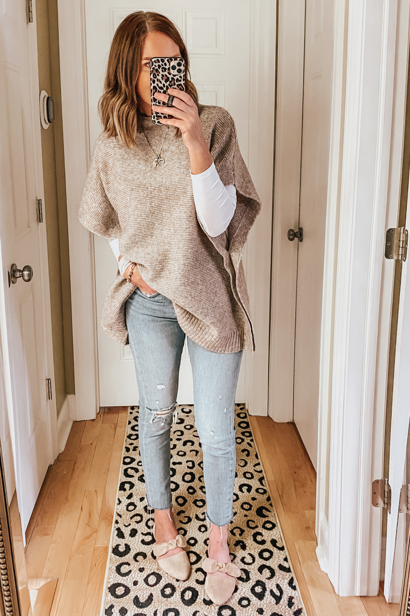 fall capsule wardrobe from Target, target sweater poncho