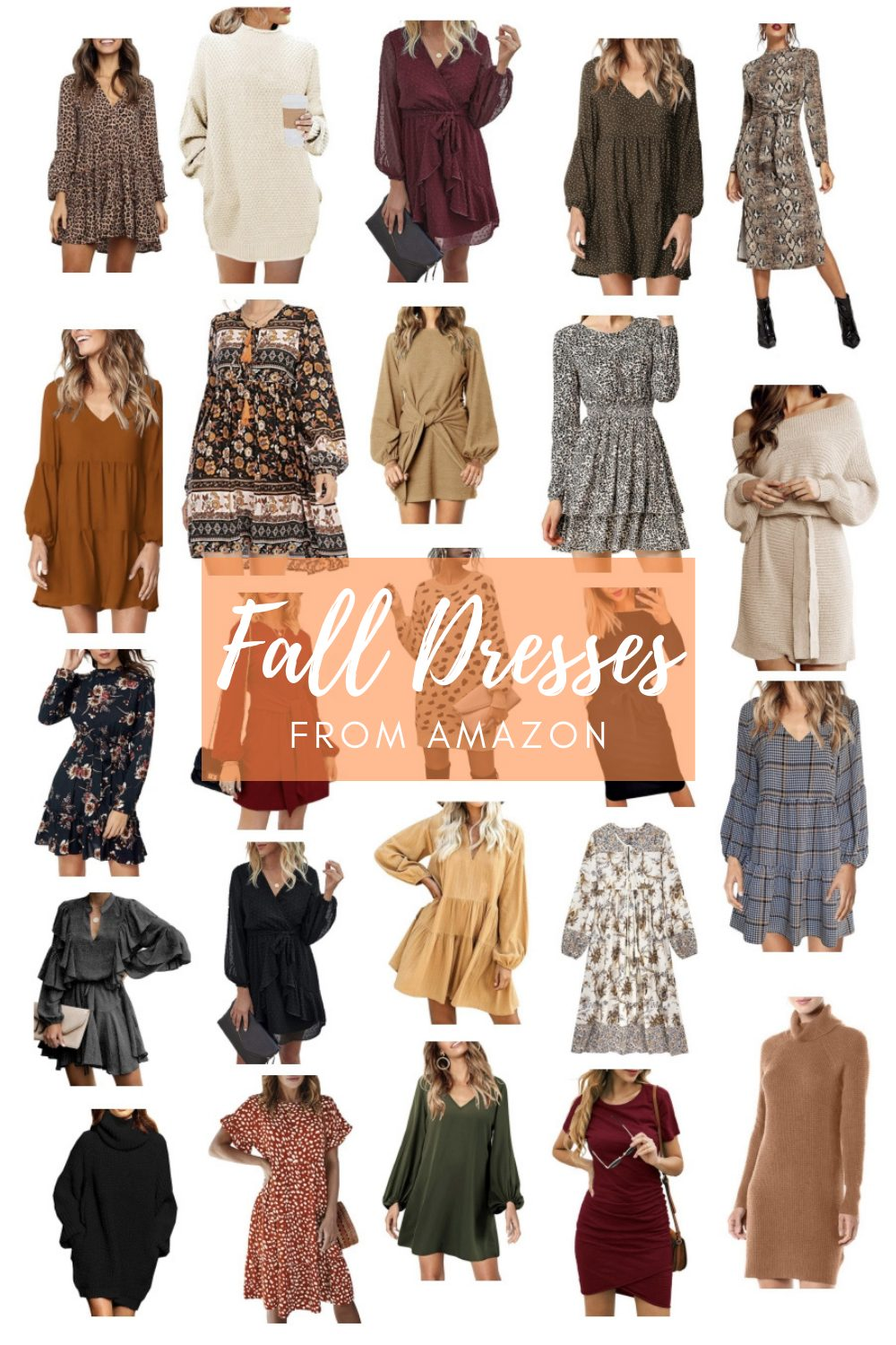 Fall Dresses for Wedding Guests and Family Photos