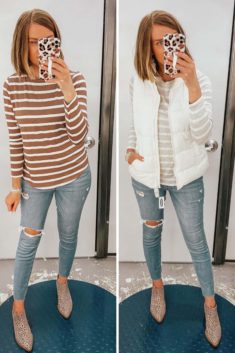 Casual Fall Outfits from Old Navy, puffer vest