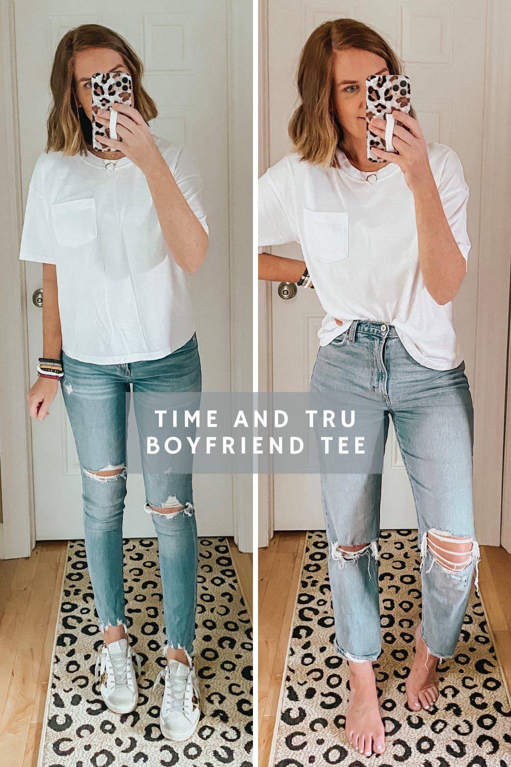 Time and Tru boyfriend tee, The Best Women's White T Shirt