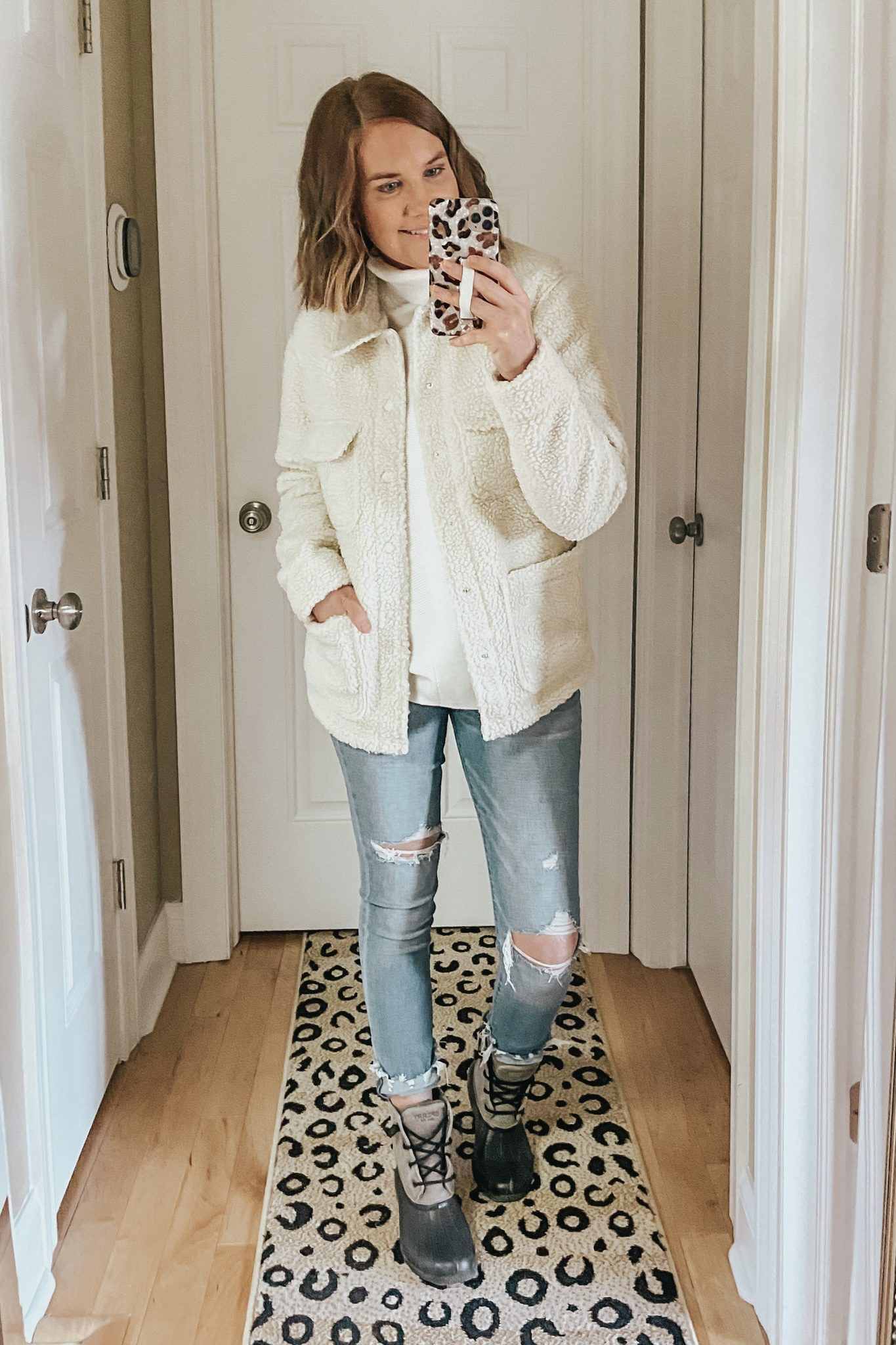 Amazon sherpa shacket, off white sherpa shirt jacket