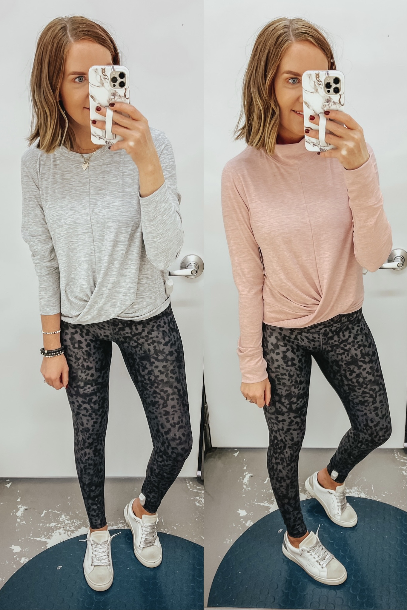 Old Navy activewear, athleisure outfit, leopard leggings