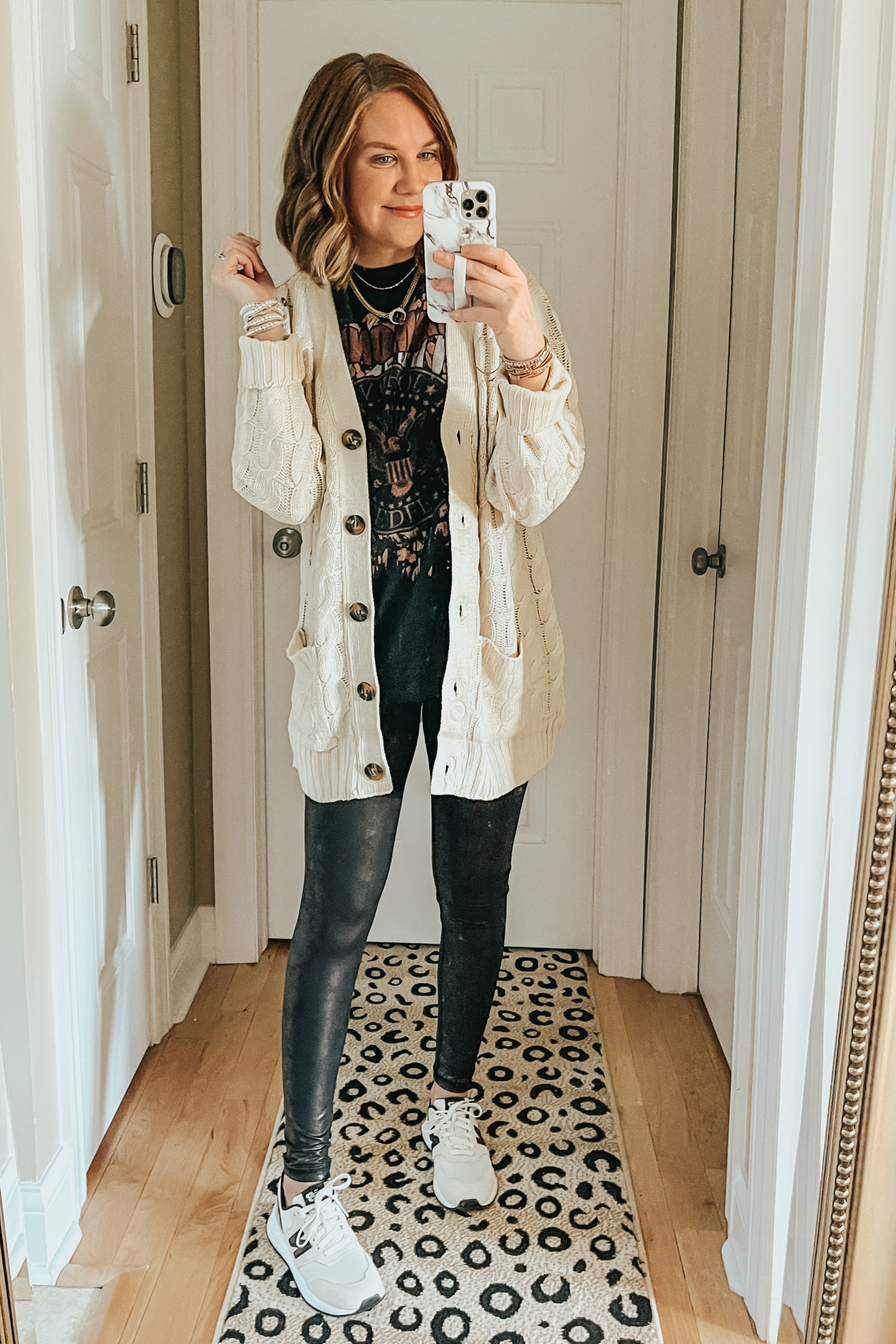 Cozy Winter Outfits from Amazon, long cable cardigan with buttons