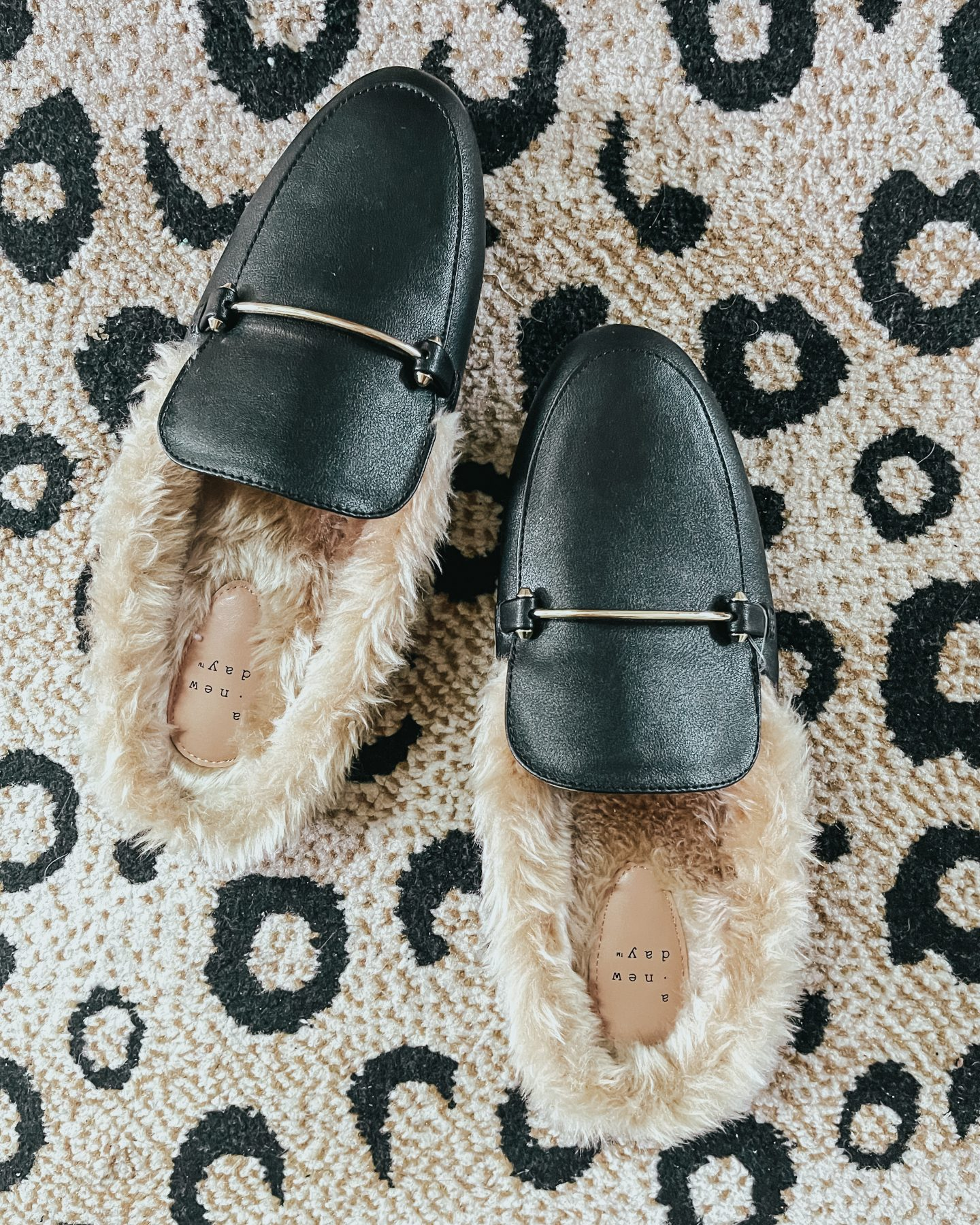 Target fur-lined mules
