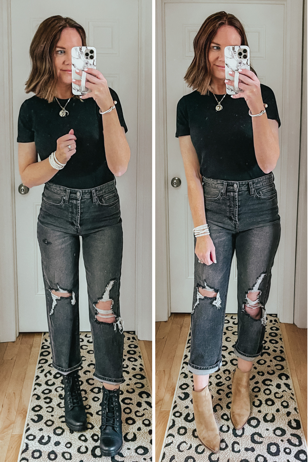Target Wild Fable Straight Leg Jeans, combat boots, booties, to wear