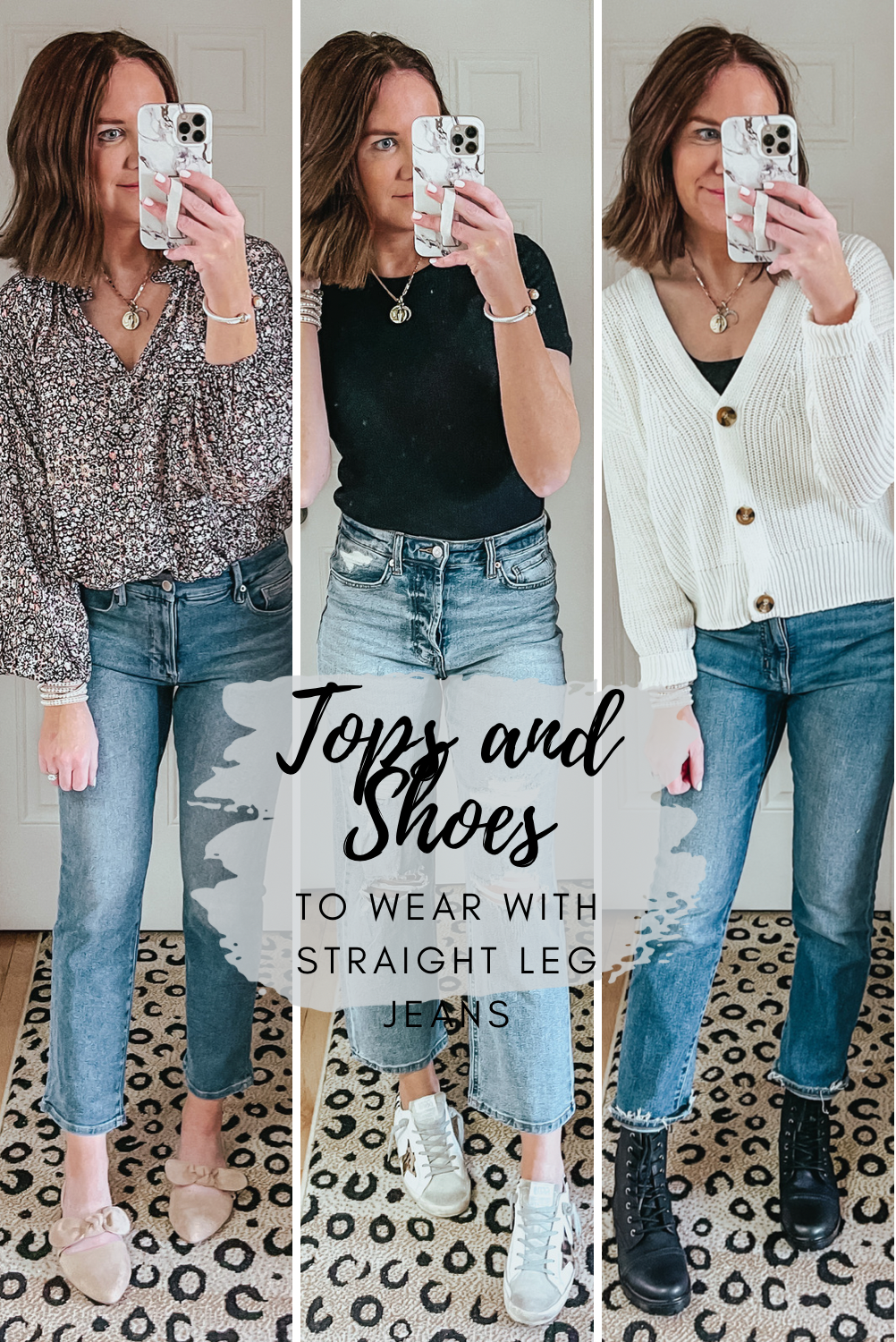Tops and Shoes to Wear with Straight Leg Jeans
