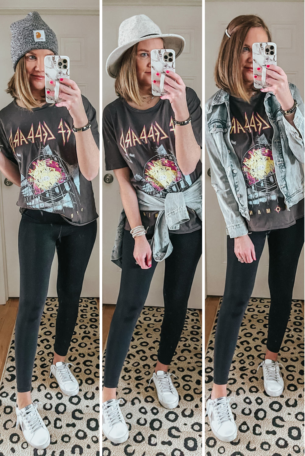 Spring Walmart Outfits that are Cute and Affordable, def leppard graphic tee