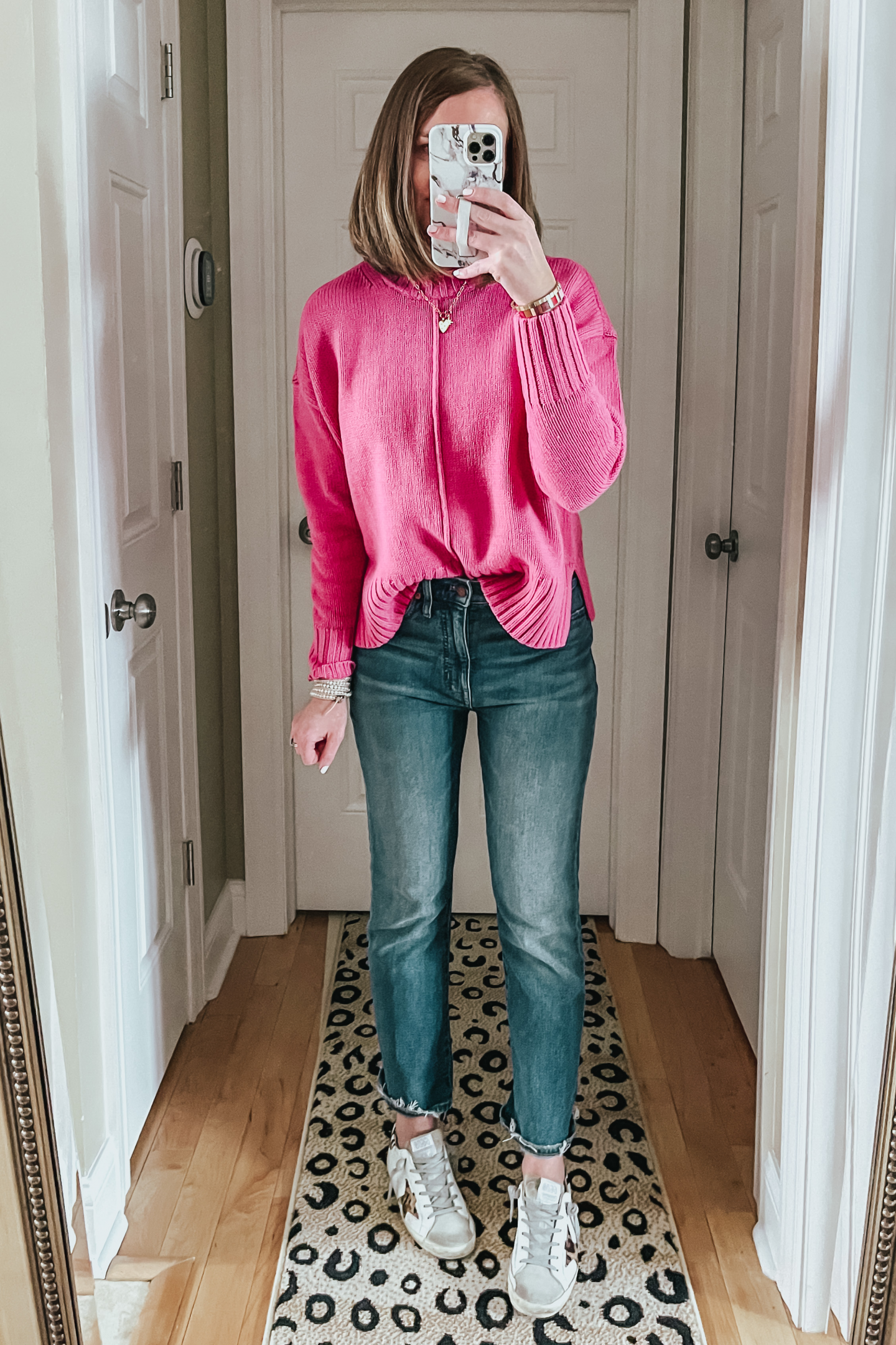 pink transitional spring sweater, cropped sweater, Target sweaters, cotton sweater