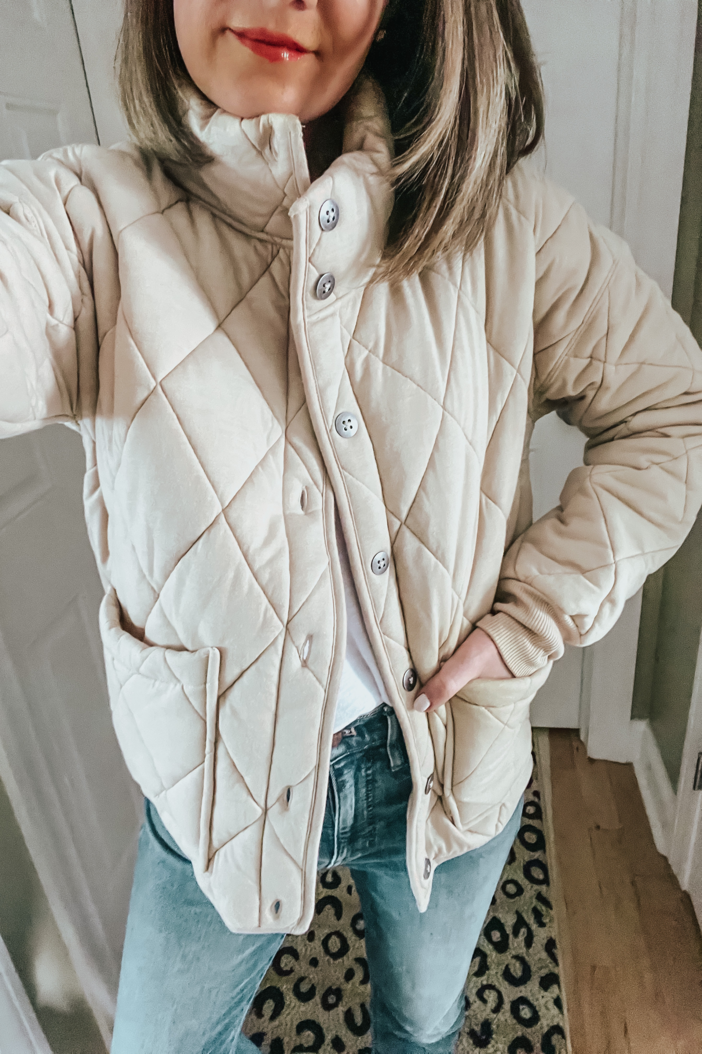 Free People quilted jacket dupe, Target quilted jacket