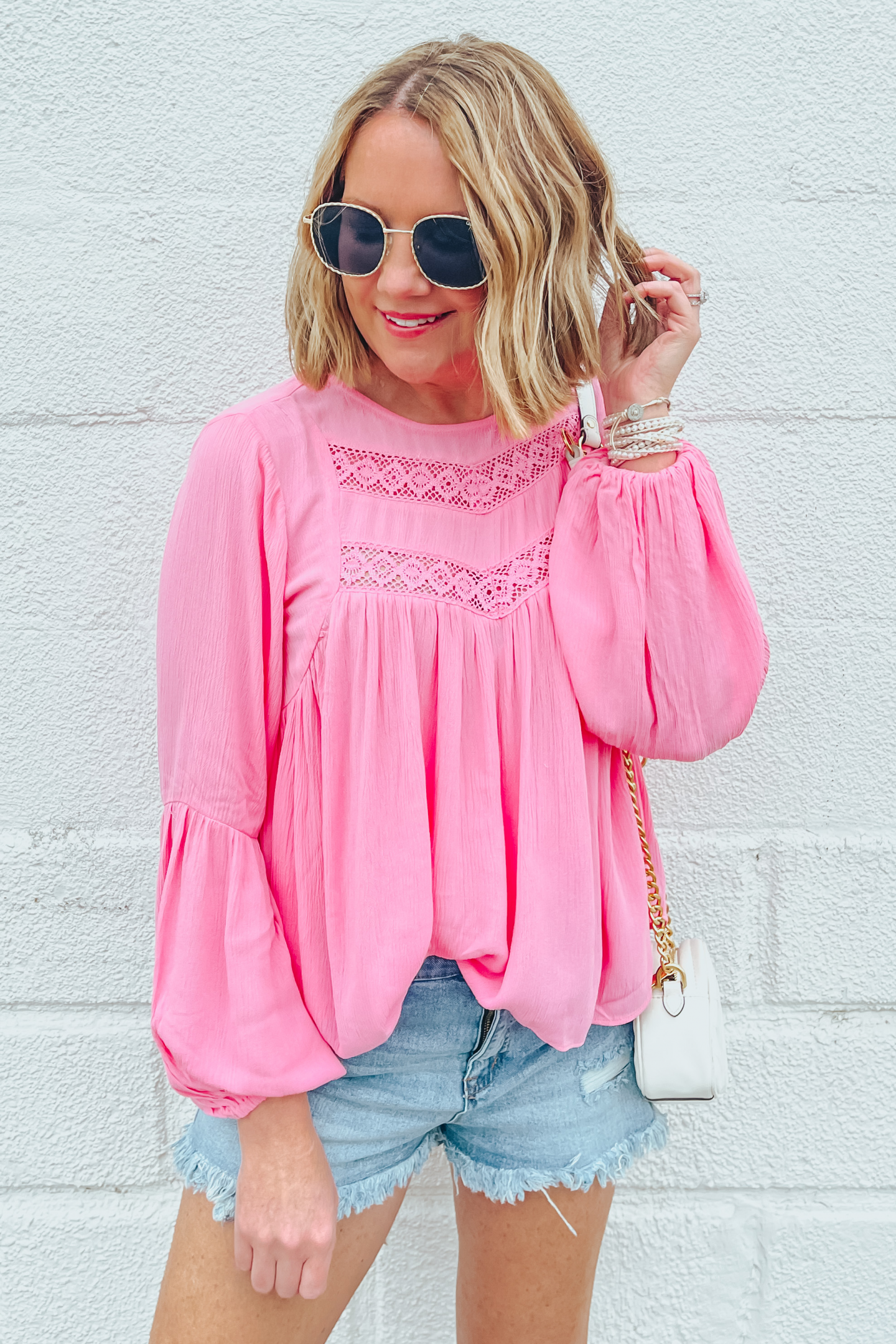 Five Ways to Style Denim Shorts, Scoop cutoff shorts, Scoop boho blouse