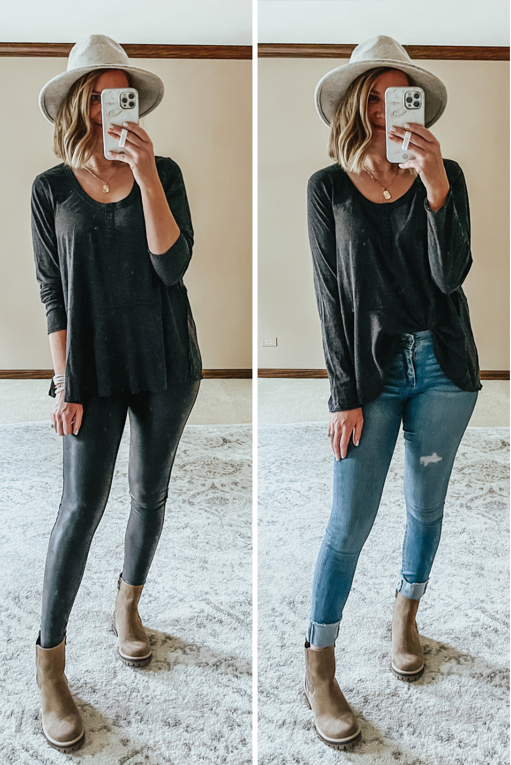 Free People look for less, babydoll henley